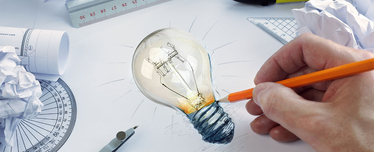 Real Lightbulb from Pencil Drawing